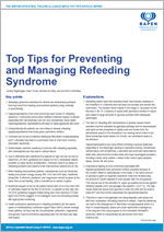Top Tips for Preventing and Managing Refeeding Syndrome