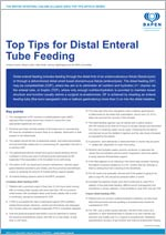 Top Tips for Distal Enteral Tube Feeding