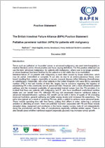 Position Statement on Palliative home parenteral nutrition (HPN) for patients with malignancy