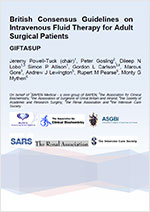 British Consensus Guidelines on Intravenous Fluid Therapy for Adult Surgical Patients (GIFTASUP)