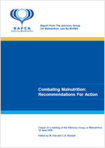 Combating Malnutrition: Recommendations for Action. Output of a meeting of the Advisory Group on Malnutrition, led by BAPEN