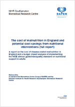 A report on the cost of disease-related malnutrition in England