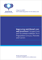 Improving Nutritional Care and Treatment. Perspectives and recommendations from Population Groups, Patients and Carers.