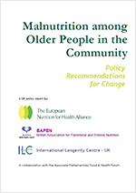 Malnutrition among Older People in the Community. Policy Recommendations