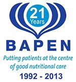 BAPEN logo 21 years