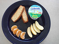 Sweet food plate